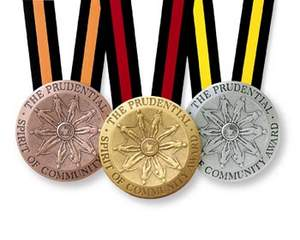 Prudential Spirit of Community Local, State and National Winners' Medallions